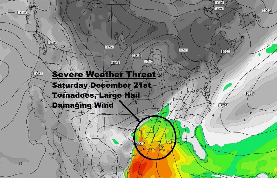Severe Weather Saturday 12/21